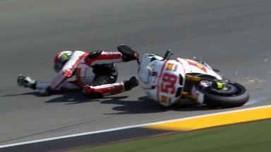 Sachsenring 2011 - MotoGP - FP3 - Marco Simoncelli - Crash