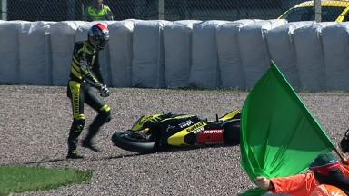 Sachsenring 2011 - MotoGP - FP3 - Colin Edwards - Crash