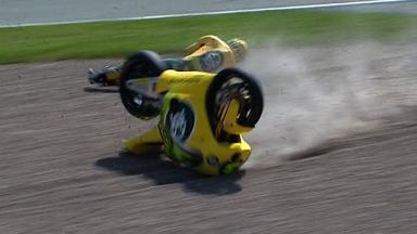 Sachsenring 2011 - Moto2 - QP - Simone Corsi - Crash