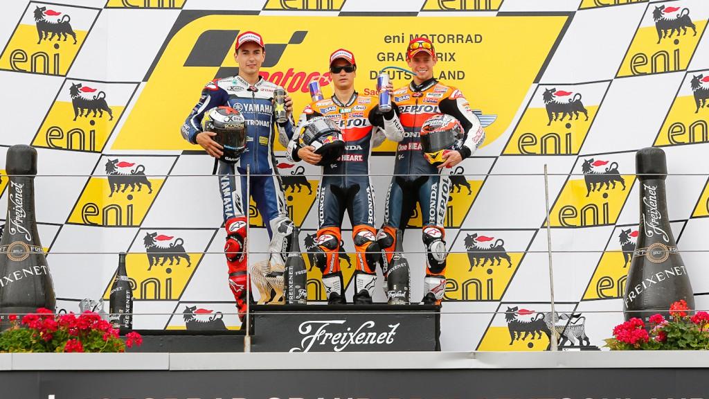 Jorge Lorenzo, Dani Pedrosa, Casey Stoner, Yamaha Factory Racing, Repsol Honda Team, Sachsenring RAC