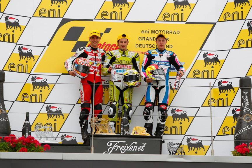 Zarco, Faubel, Viñales, Avant-AirAsia-Ajo, Bankia Aspar Team 125cc, Blusens by Paris Hilton Racing, Sachsenring RAC