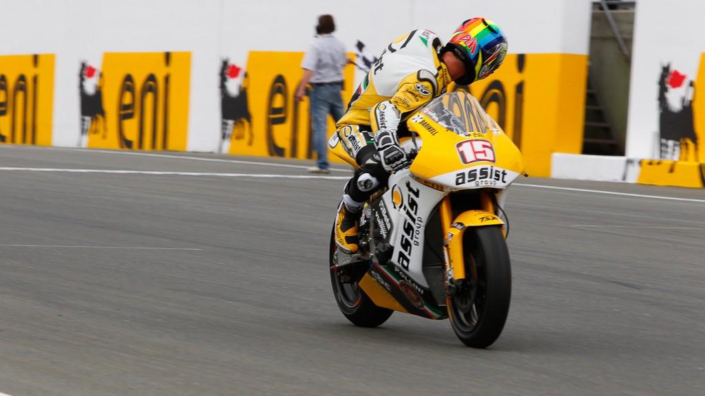 Alex de Angelis, JiR Moto2, Sachsenring QP