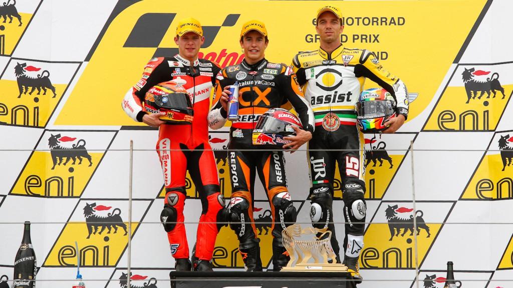 Bradl, Marquez, De Angelis, Viessmann Kiefer Racing, Team CatalunyaCaixa Repsol, JiR Moto2, Sachsenring RAC