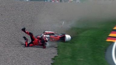Sachsenring 2011 - 125cc - Race - Miguel Oliveira - Crash