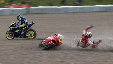 Sachsenring 2011 - Moto2 - Race - Simon, Simeon and Smith - Crash