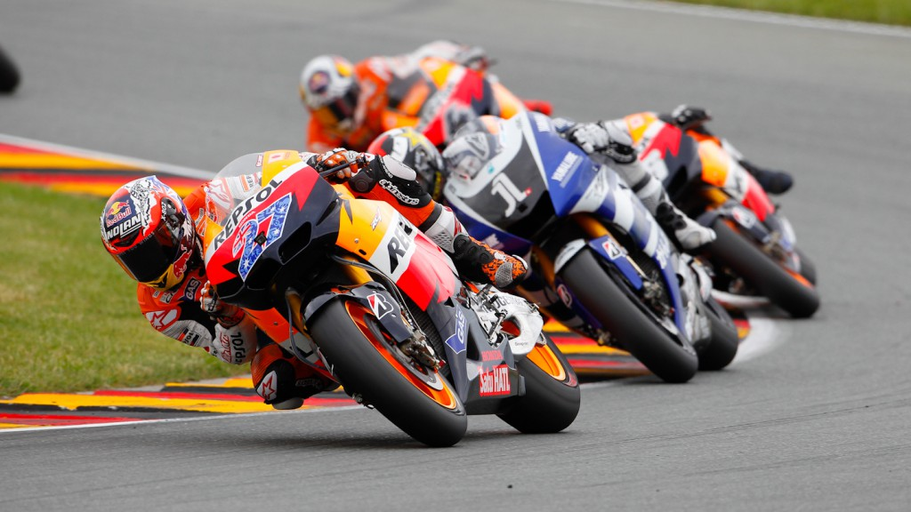Casey Stoner, Repsol Honda Team, Sachsenring RAC
