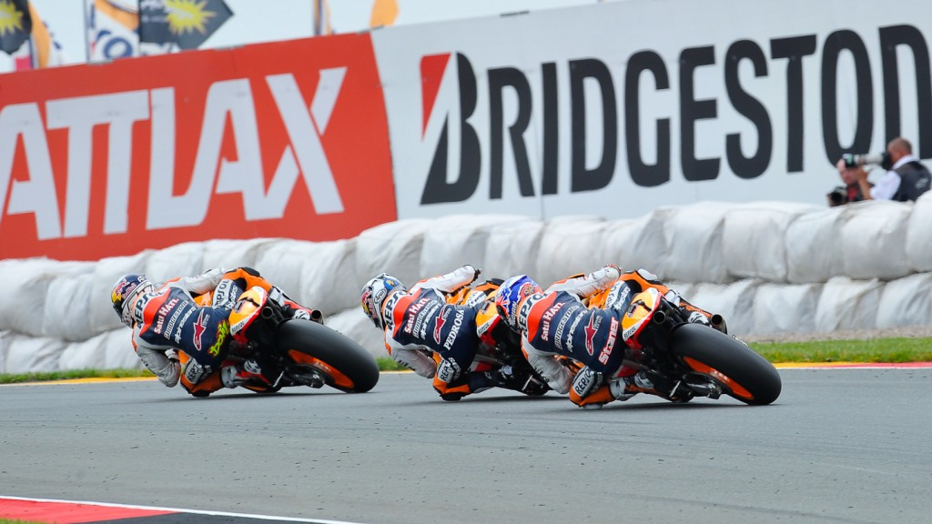 Andrea Dovizioso, Dani Pedrosa, Casey Stoner, Repsol Honda Team, Sachsenring RAC
