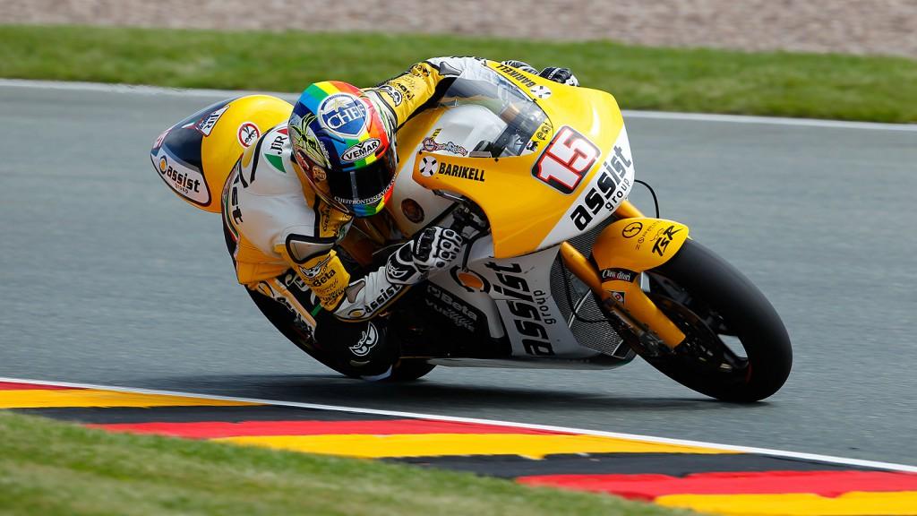 Alex De Angelis, JIR Moto2, Sanchsenring FP2