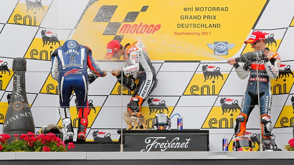 Lorenzo, Pedrosa, Stoner, Yamaha Factory Racing, Repsol Honda Team, Sachsenring RAC