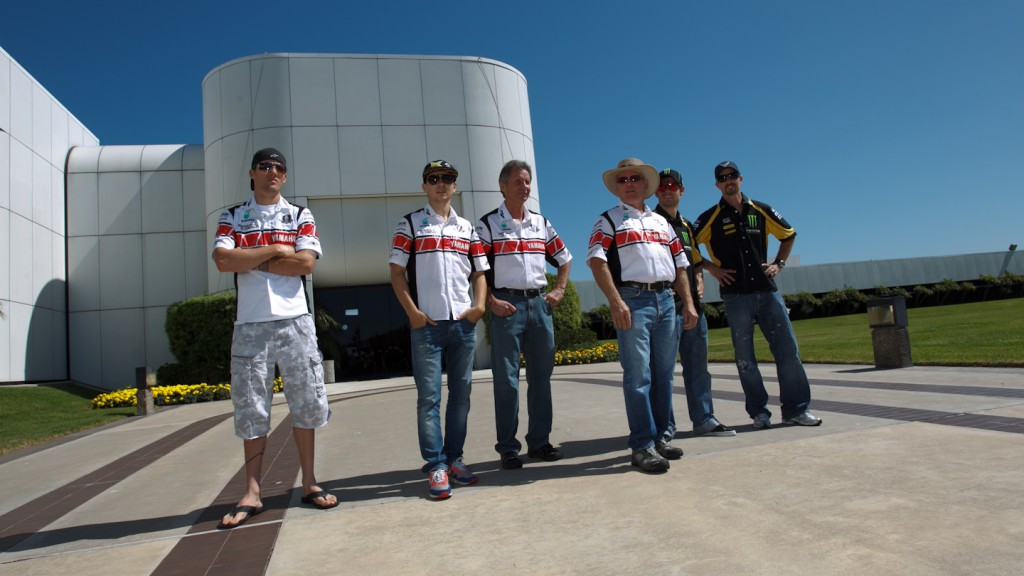 Yamaha Motor Company Headquarters, Lorenzo, Spies, Edwards, Crutchlow, Kenny Roberts Sr, Eddie Lawson