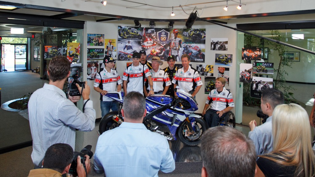 Yamaha Motor Company Headquarters, Lorenzo, Spies, Edwards, Crutchlow, Kenny Roberts Sr, Eddie Lawson, Wayne Rainey