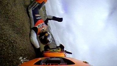 Laguna Seca 2011 - MotoGP - FP1 - Action - Dani Pedrosa- Crash