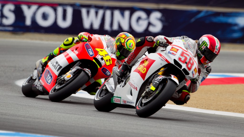 Marco Simoncelli, Valentino Rossi, San Carlo Honda Gresini, Ducati Team, Laguna Seca FP1