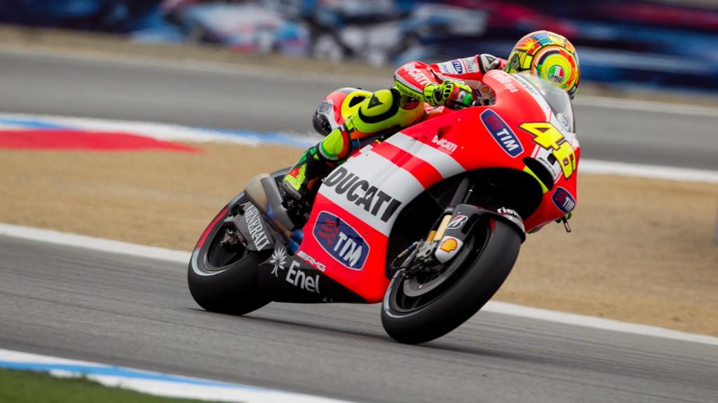 Valentino Rossi, Ducati Team, Laguna Seca FP1