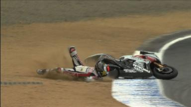 Laguna Seca 2011 - MotoGP - FP3 - Action - Jorge Lorenzo- Crash