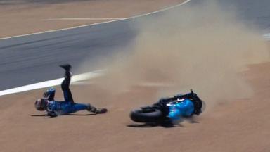 Laguna Seca 2011 - MotoGP - QP - Alvaro Bautista - Crash