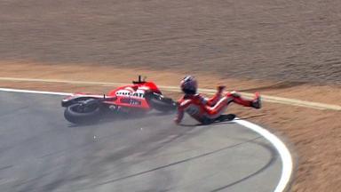 Laguna Seca 2011 - MotoGP - QP - Nicky Hayden - Crash