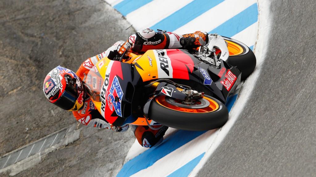 Casey Stoner, Repsol Honda Team, Laguna Seca FP3