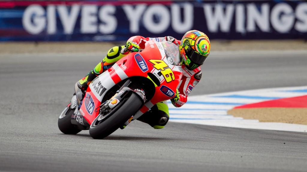 Valentino Rossi, Ducati Team, Laguna Seca QP
