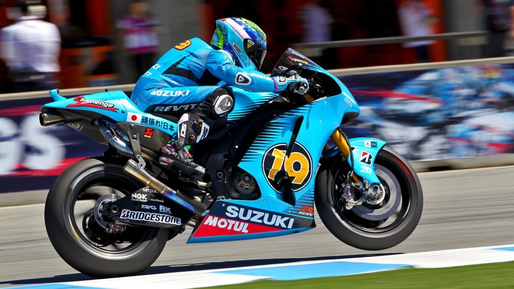 Alvaro Bautista, Rizla Suzuki MotoGP, Laguna Seca FP2
