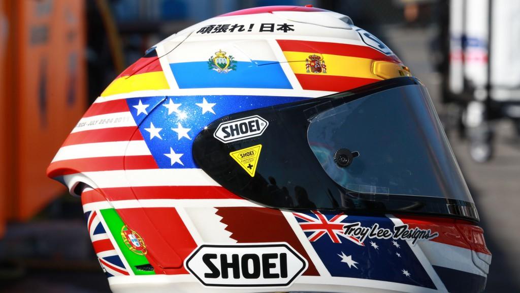 Alvaro Bautista Helmet, Rizla Suzuki MotoGP, Laguna Seca