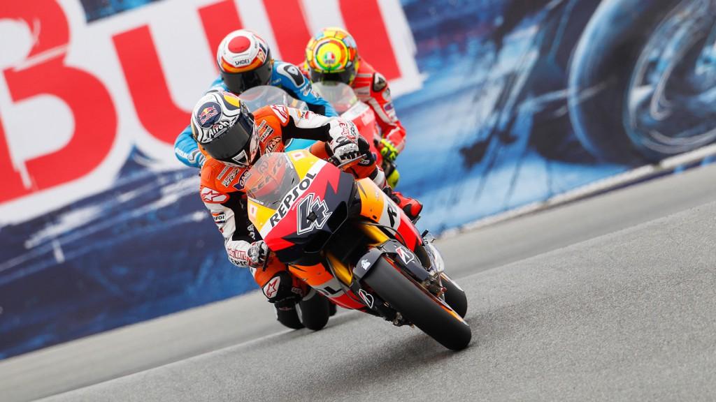Andrea Dovizioso, Alvaro Bautista, Valentino Rossi, Repsol Honda Team, Rizla Suzuki MotoGP, Ducati Team, Laguna Seca, FP3