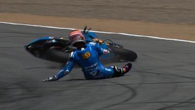 Laguna Seca 2011 - MotoGP - Race - Alvaro Bautista - Crash