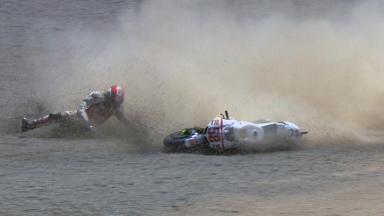 Laguna Seca 2011 - MotoGP - Race - Marco Simoncelli - Crash