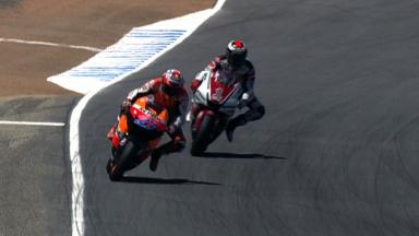 Laguna Seca 2011 - MotoGP - Race - Action - Stoner and Lorenzo