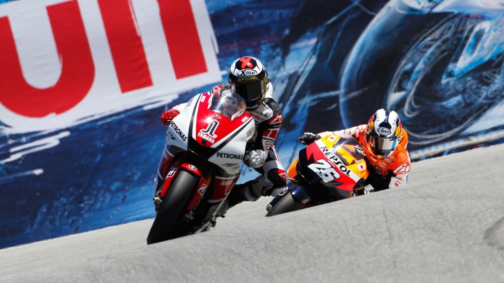 Jorge Lorenzo, Dani Pedrosa, YAmaha Factory Racing, Repsol Honda Team, Laguna Seca RAC