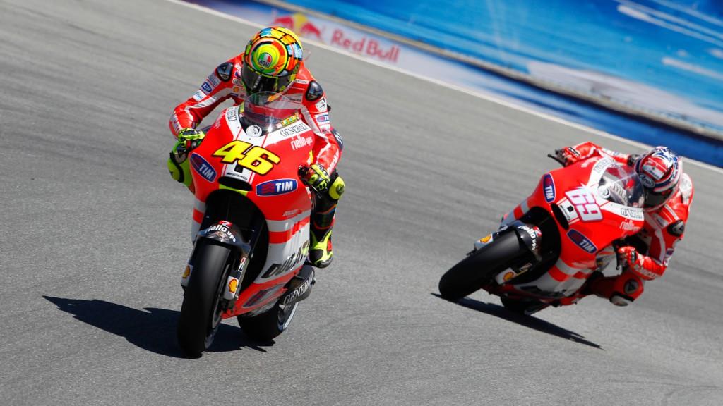 Valentino Rossi, Nicky Hayden Ducati Team, Laguna Seca RAC