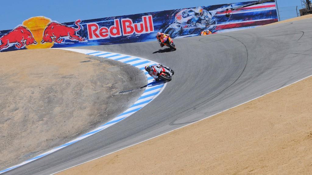 Jorge Lorenzo, Casey Stoner, Yamaha Factory Racing, Repsol Honda Team, Laguna Seca RAC