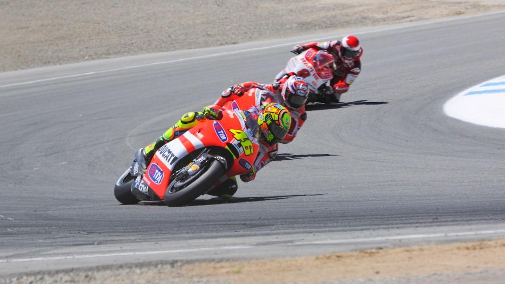 Valentino Rossi, Hector Barbera, Ducati Team, Mapfre Aspar Team, Laguna Seca RAC