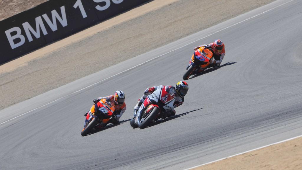 Jorge Lorenzo, Dani Pedrosa, Casey Stoner, Yamaha Factory Racing, Repsol Honda Team, Laguna Seca RAC