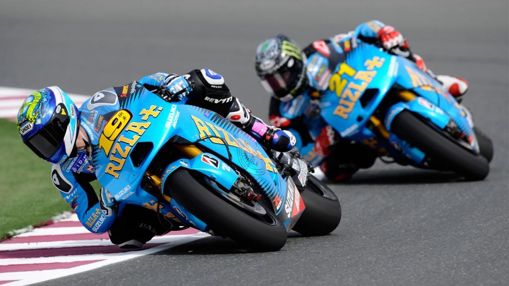 Alvaro Bautista, John Hopkins, Rizla Suzuki MotoGP