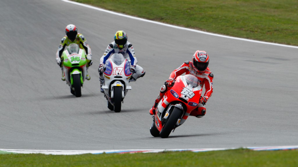 Nicky Hayden, Karel Abraham, Randy de Puniet, Ducati Team, Cardion AB Motoracing, Pramac Racing Team, Brno FP2