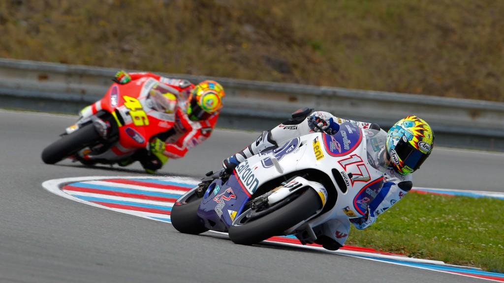Karel Abraham, Valentino Rossi, Brno FP2