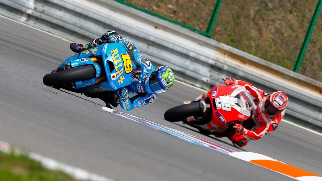Alvaro Bautista, Nicky Hayden, Rizla Suzuki MotoGP, Ducati Team, Brno FP2