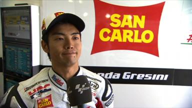 Aoyama on Brno FP1 and 2