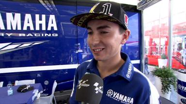 Lorenzo previews targets for Saturday