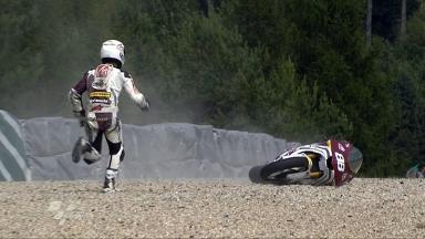 Brno 2011 - Moto2 - FP2 - Ricard Cardús - Crash
