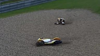 Brno 2011 - 125cc - FP3 - Action - Alberto Moncayo  - Crash