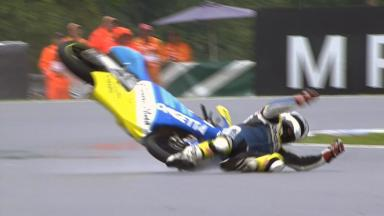 Brno 2011 - 125cc - FP3 - Action -Harry Stafford  - Crash