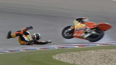 Brno 2011 - 125cc - QP - Action - Luca Gruenwald  - Crash