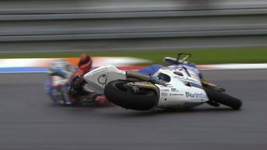 Brno 2011 - Moto2 - FP3 - Action - Yonny Hernandez  - Crash