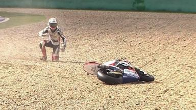 Brno 2011 - Moto2 - QP - Action - Randy Krummenacher  - Crash