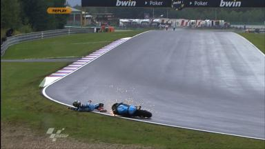 Brno 2011 - MotoGP - FP3 - Action - John Hopkins - Crash