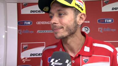 Rossi satisfied with sixth and progress