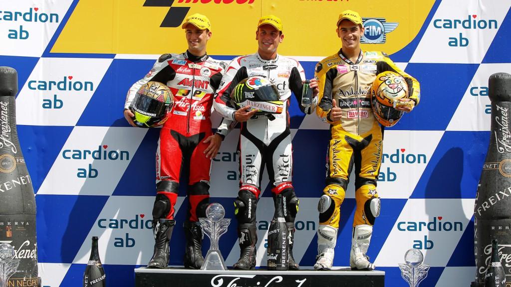 Johann Zarco, Sandro Cortese, Alberto Moncayo, Avant-AirAsia-Ajo, Intact-Racing Team Germany,  Andalucia Banca Civiva, Brno RAC