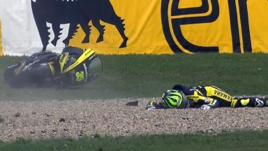 Brno 2011 - MotoGP - Race - Action - Cal Cruthlow  - Crash